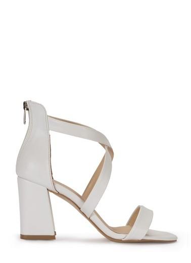 Sole Sisters Topuklu Sandalet Beyaz - Garrac Beyaz